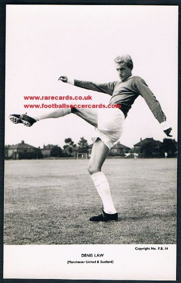 1962 Denis Law CBCC PB14 postcard